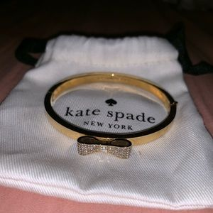 Kate Spade silver bow bangle